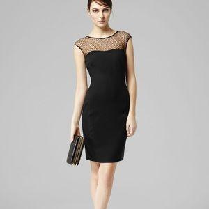 Reiss Black HoneyComb Dress Size 8